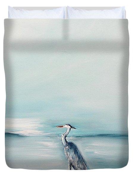 Heron Silence Duvet Cover