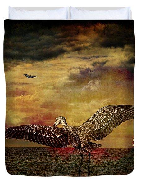 Herons Duvet Cover by Chris Lord