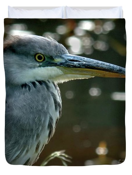 Herons Looking At You Kid Duvet Cover