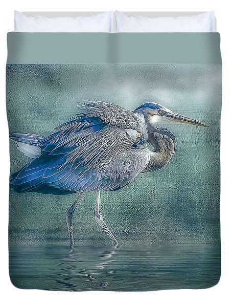 Heron's Pool Duvet Cover by Brian Tarr