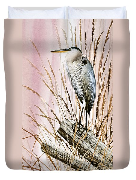 Herons Watch Duvet Cover by James Williamson