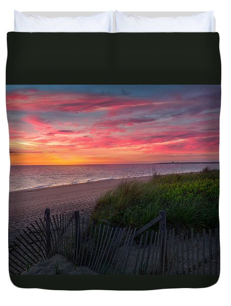 Herring Cove Beach Sunset Duvet Cover