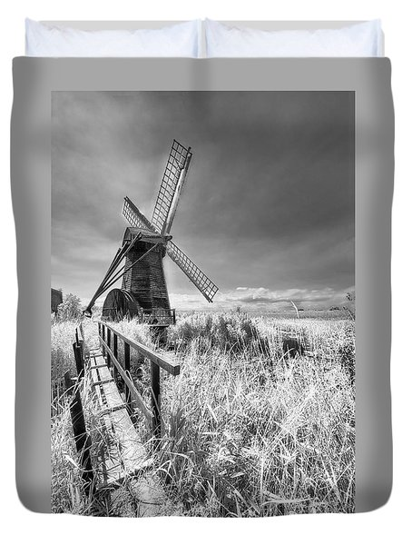 Herringfleet Pump Norfolk Uk Duvet Cover
