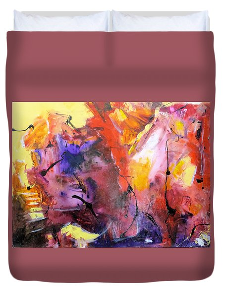 Hes Fire Mountain Duvet Cover