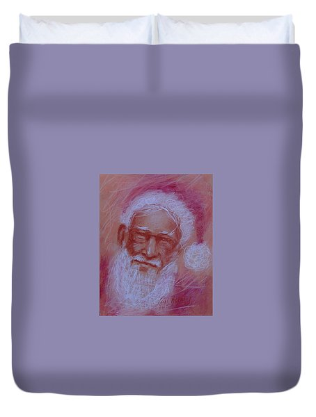 He's Watching Duvet Cover by Carol Berning