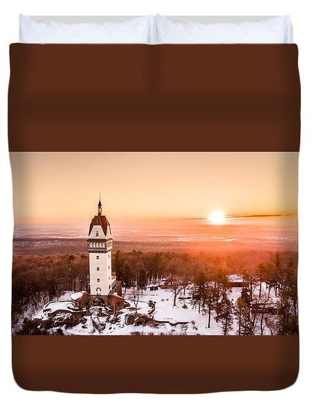 Heublein Tower In Simsbury Connecticut Duvet Cover