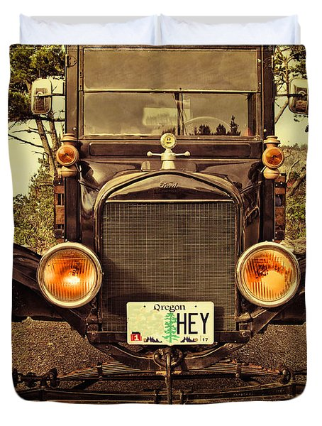 Duvet Cover featuring the photograph Hey A Model T Ford Truck by Thom Zehrfeld