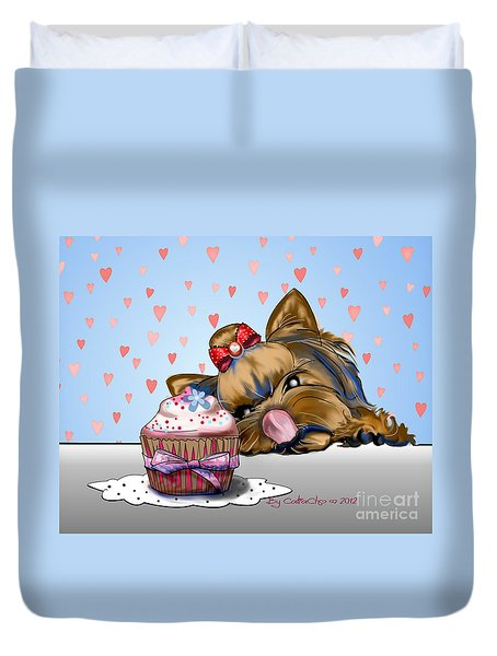 Hey There Cupcake Duvet Cover