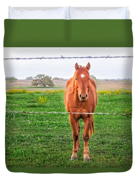 Duvet Cover featuring the photograph Hey You - Ya You by Melinda Ledsome