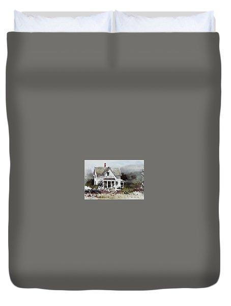 Heyl House, Minneapolis, Kansas Duvet Cover by Monte Toon