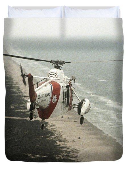 Hh-52a Beach Patrol Duvet Cover