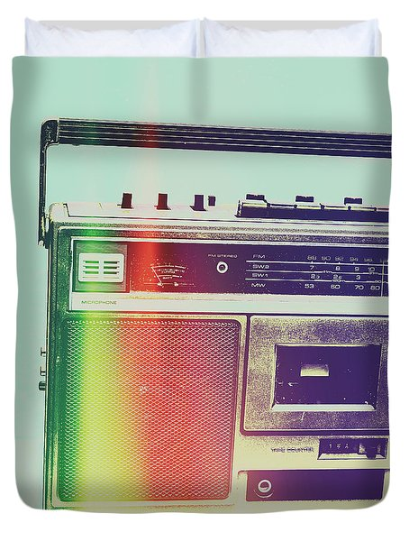 Hi-fi Pop Duvet Cover