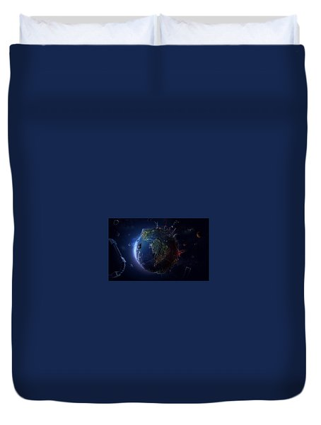 Hi Tech Planet Duvet Cover