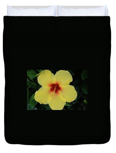 Sun Lover Hibiscus Duvet Cover