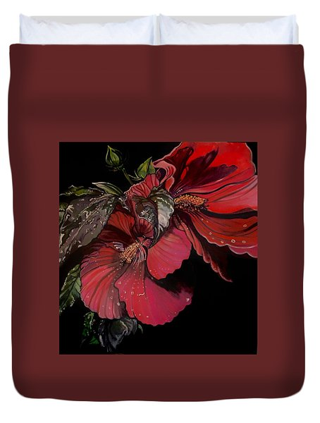 Hibiscus After The Rain Duvet Cover