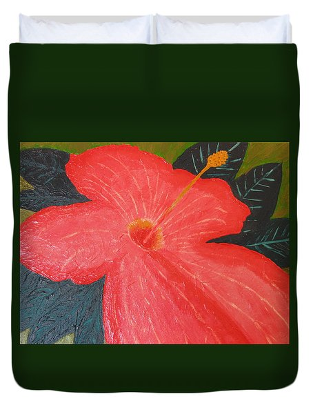 Hibiscus Duvet Cover by Barbara Yearty