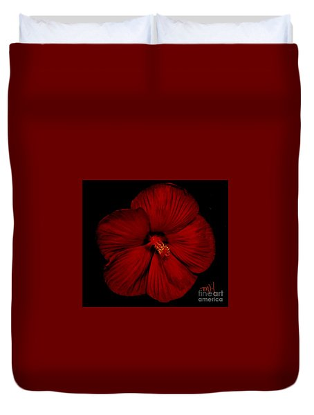 Hibiscus By Moonlight Duvet Cover