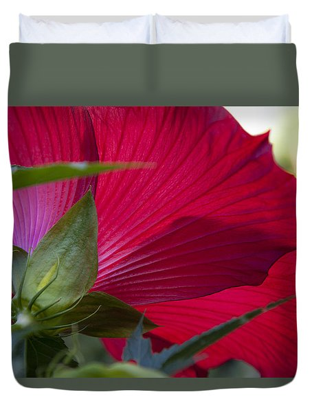 Duvet Cover featuring the photograph Hibiscus by Charles Harden