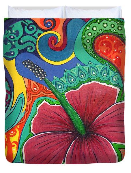 Hibiscus Dream Duvet Cover