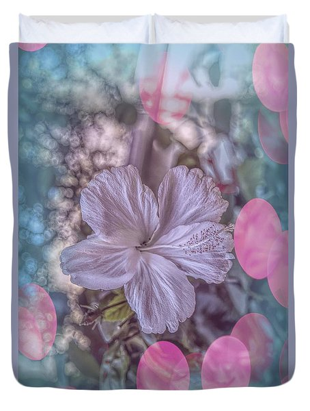 Duvet Cover featuring the photograph Hibiscus by Elaine Teague