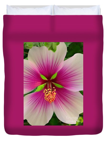 Hibiscus Face Duvet Cover