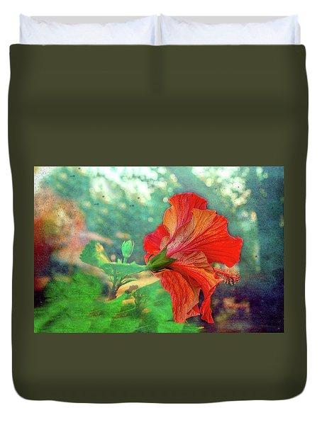 Hibiscus Flame Duvet Cover