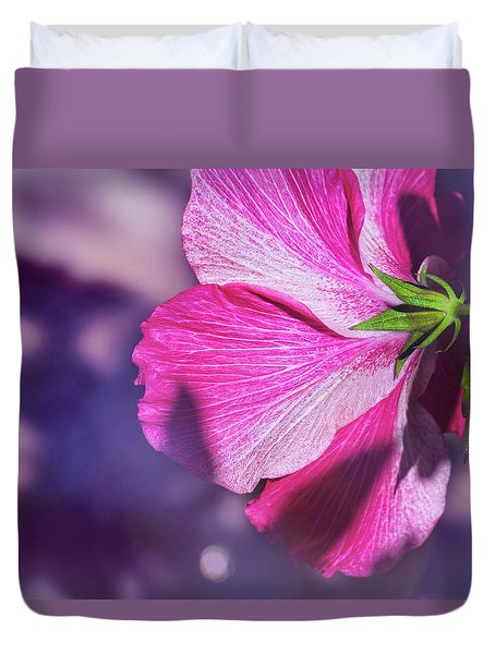 Hibiscus In The Shadows Duvet Cover