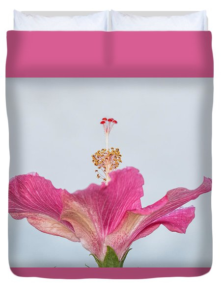 Hibiscus Looking Upward Duvet Cover