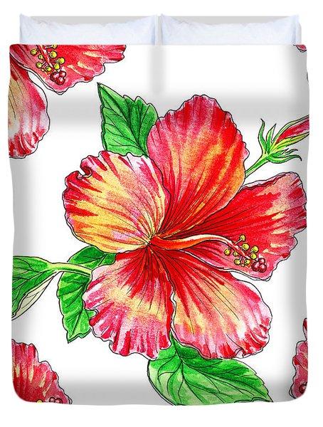 Hibiscus Magic Garden Duvet Cover