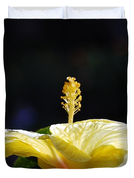 Duvet Cover featuring the photograph Hibiscus Morning by Debbie Karnes