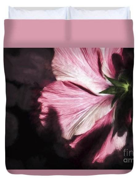 Hibiscus In The Rear View Window Duvet Cover