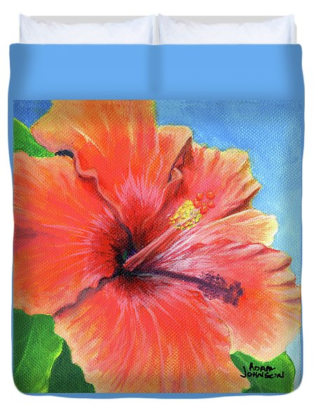 Hibiscus Passion Duvet Cover