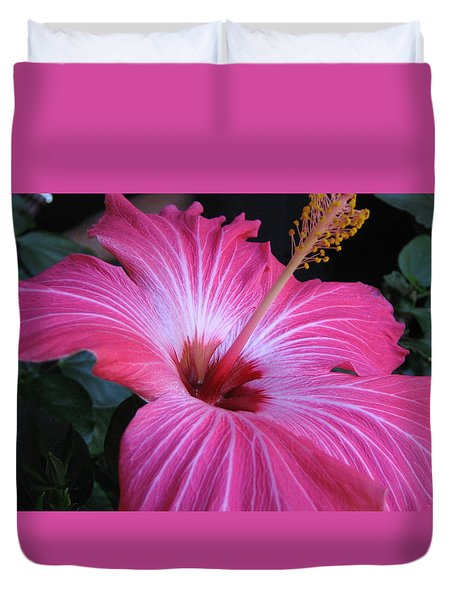 Hibiscus Photograph Duvet Cover by Barbara Yearty