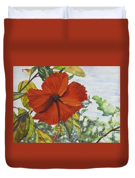 Hibiscus St Thomas Duvet Cover