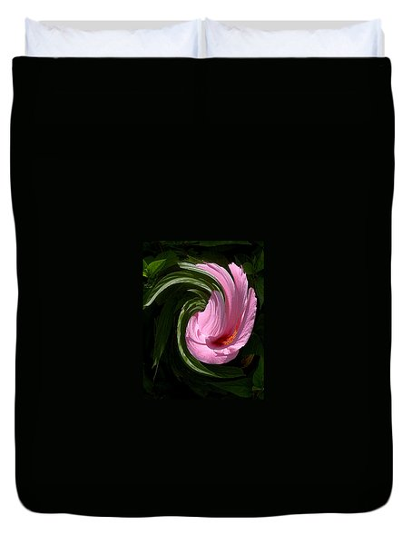 Hibiscus Twirl Duvet Cover