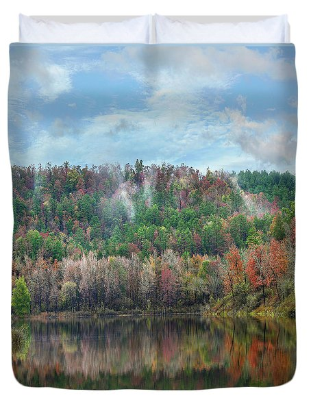 Hickory Forest Duvet Cover by Tim Fitzharris