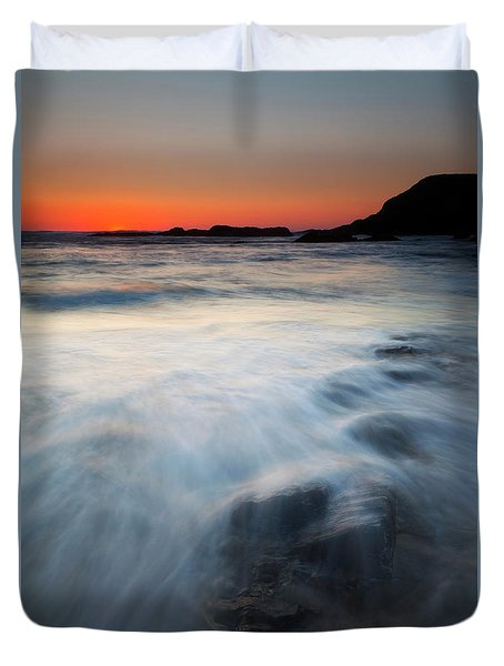 Hidden Beneath The Tides Duvet Cover by Mike  Dawson