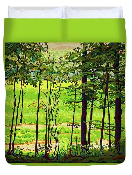 Hidden Beyond The Green Duvet Cover