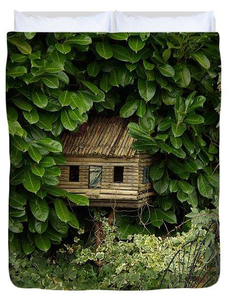 Hidden Birdhouse Duvet Cover