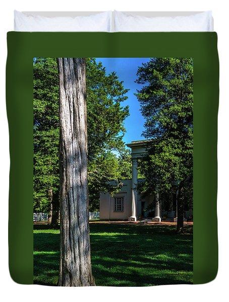 Duvet Cover featuring the photograph Hidden Columns - Color by James L Bartlett