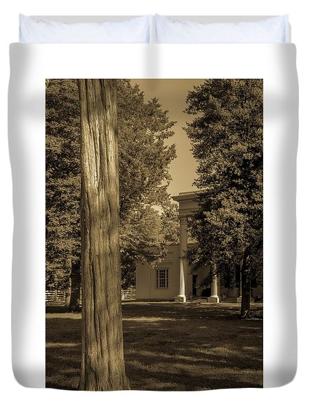 Duvet Cover featuring the photograph Hidden Columns  by James L Bartlett