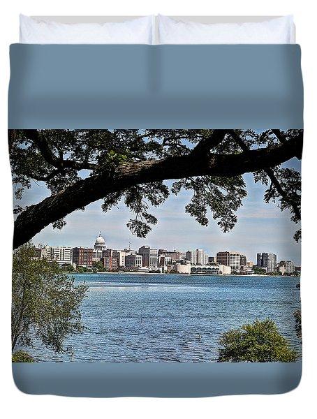 Duvet Cover featuring the photograph Hidden Edge by Deborah Klubertanz
