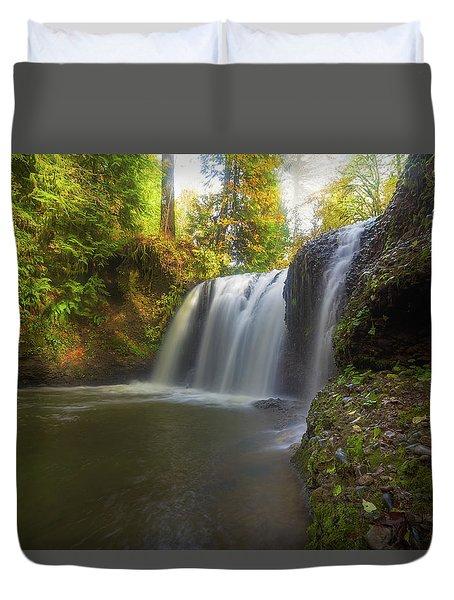 Hidden Falls In Rock Creek Duvet Cover by David Gn
