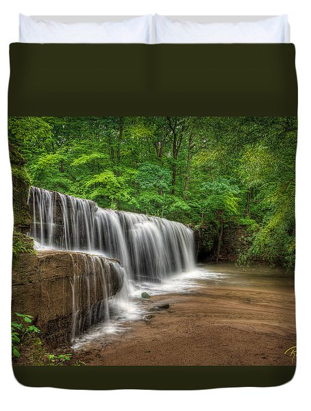 Hidden Falls  Duvet Cover by Rikk Flohr