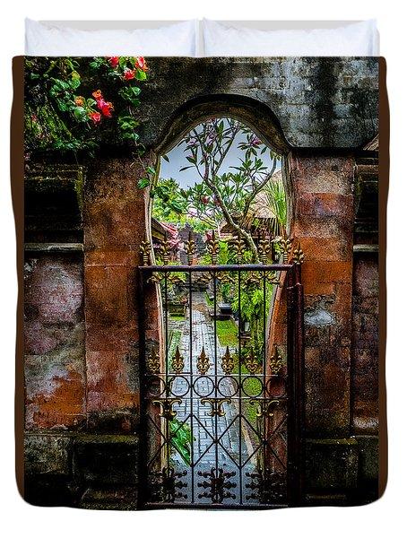 Bali Gate Duvet Cover