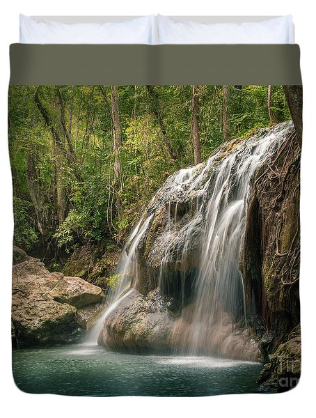 Duvet Cover featuring the photograph Hidden In The Jungle Of Guatemala by Jola Martysz