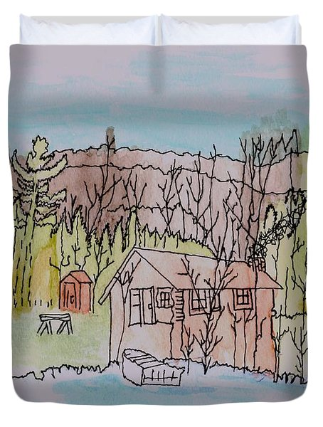 Hidden Lake                      Duvet Cover by Connie Valasco