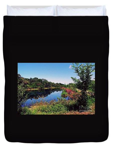 Duvet Cover featuring the photograph Hidden Lake by Gary Wonning