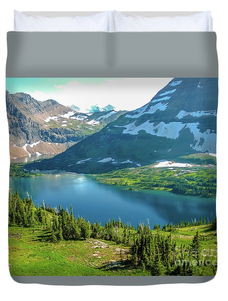 Hidden Lake Glacier National Park Duvet Cover