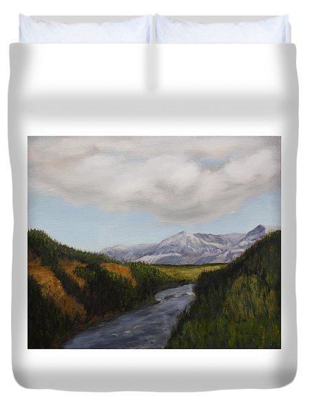 Hidden Mountains Duvet Cover